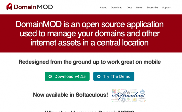 DomainMOD un gestor de dominios y hosting self-hosted